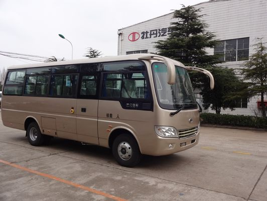 China School Transportation Star Type 30 Passenger Mini Bus With Aluminum Hard Door supplier