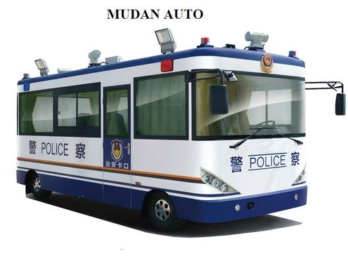 China White Blue Traveling Security Police Officer Patrolling Pecial Purpose Vehicles distributor
