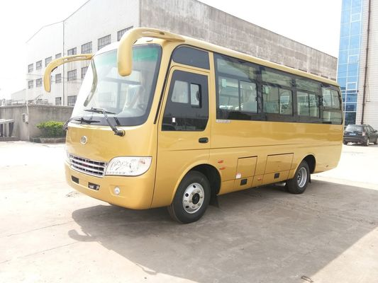 China 3.9L Cummins Engine 20 Seater Minibus /  Inner City Bus Two Folding Passenger Door distributor