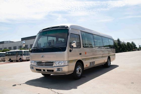 China 4×2 Commercial Toyota Coaster Motorhome Vehicles Folding Door Staff Small ISUZU Engine distributor