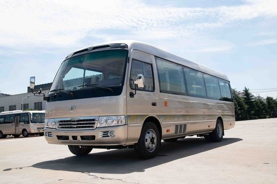 China Luxury Travel 30 Seater Minibus Lever Foot Pedal Sightseeing CUMMINS Engine distributor