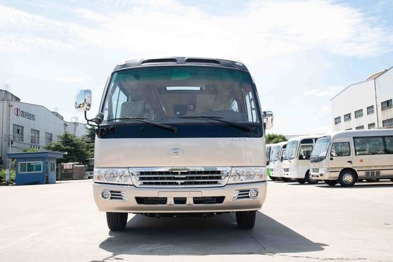 China Road Sightseeing High Roof Coaster Minibus Environmental Low Fuel Consumption distributor
