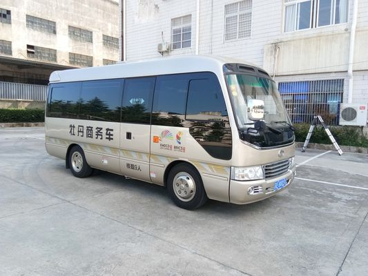 China Length 6M Isuzu Aluminum Coaster Minibus Diesel Engine Extral Rear Open Door distributor